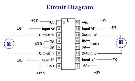 Two Dc Motors L293d on solar system wiring diagram